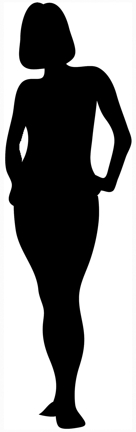 Afro clipart outline. Black woman silhouette at