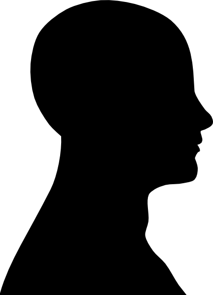 Afro clipart outline. Head silhouette at getdrawings
