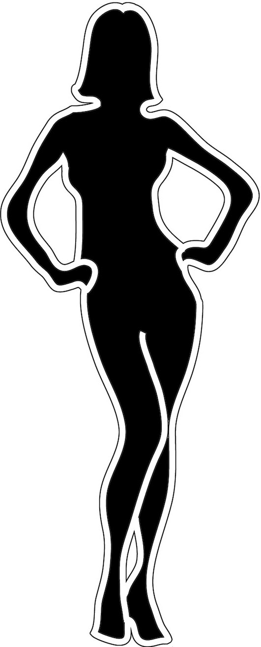 Afro clipart outline. Female silhouette standing woman