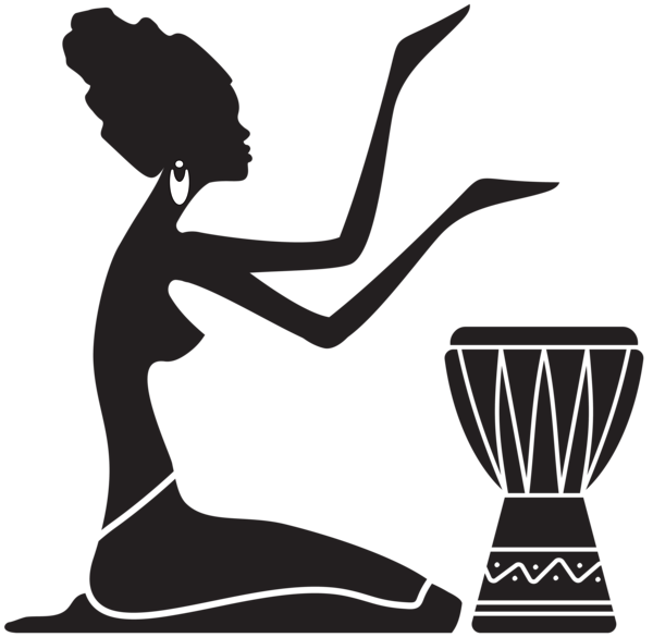 Afro clipart png. African women silhouette clip