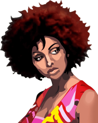Afro girl png. Download hair free transparent