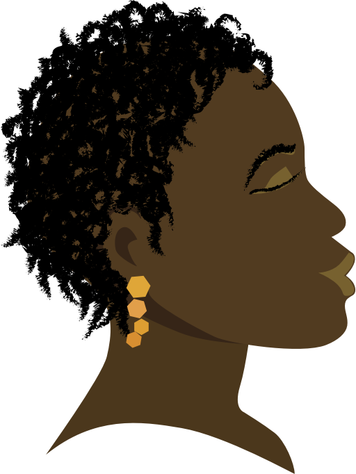 Afro girl png. Clipart african profile medium