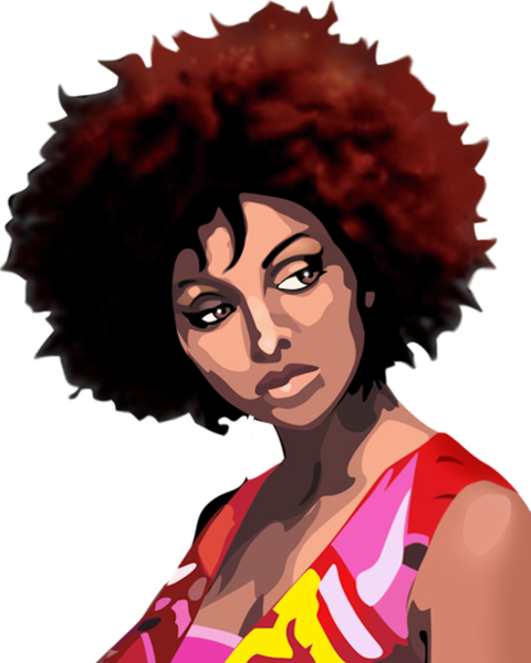 Afro vector png. Girl psd official psds