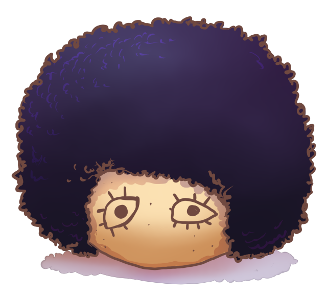 Afro wig png. Scratchy by avodkabottle on