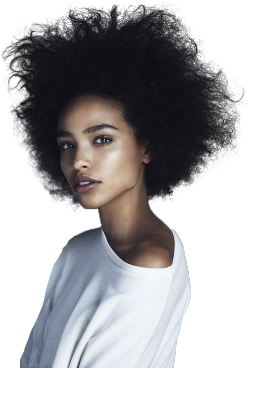afro girl png