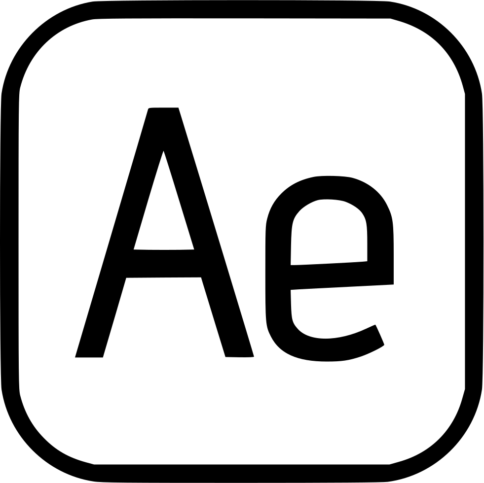 After effects png transparency. Adobe svg icon free