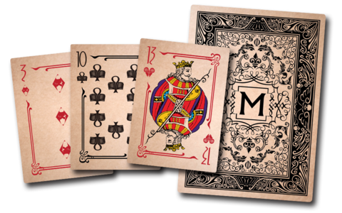 aged deck of cards png