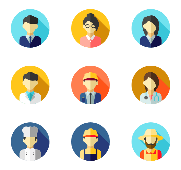Profile icons free vector. Avatar png icon clip freeuse library
