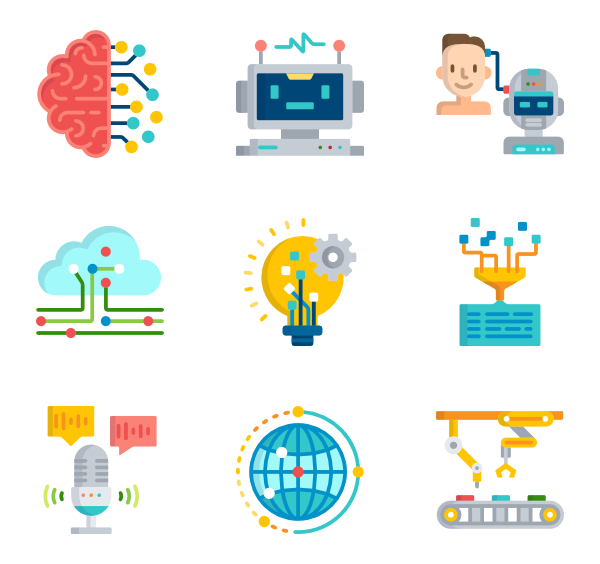 Ai vector artificial intelligence. Icons free