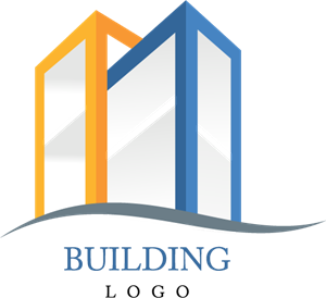 Ai vector building. Two construction logo free