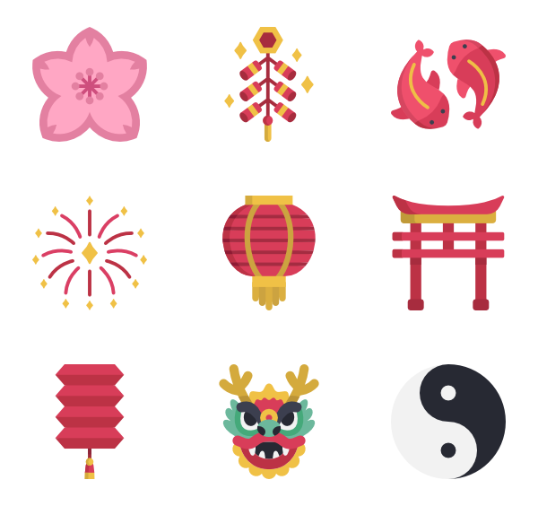 Ai vector chinese new year. Icons free