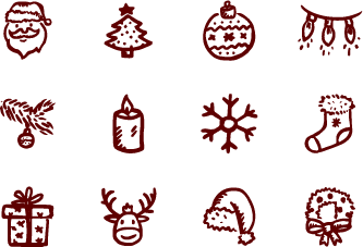 Ai vector christmas. Merry icons free by