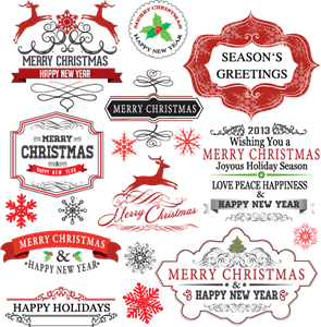Vector stickers christmas. Labels logo ai free jpg freeuse download