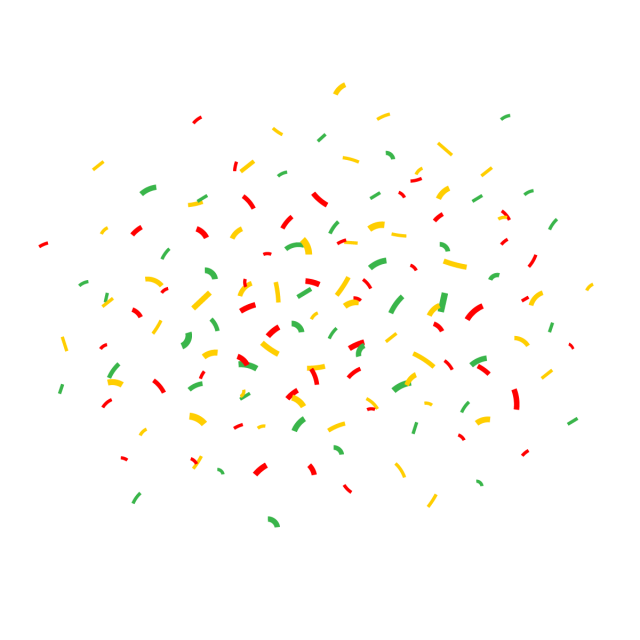 Ai vector confetti. Cartoon happy birthday gift