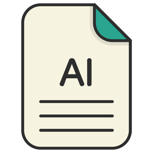 Ai vector file. Icons for free document