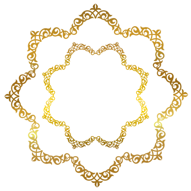 Ai vector gold embellishment. Frame golden border photo