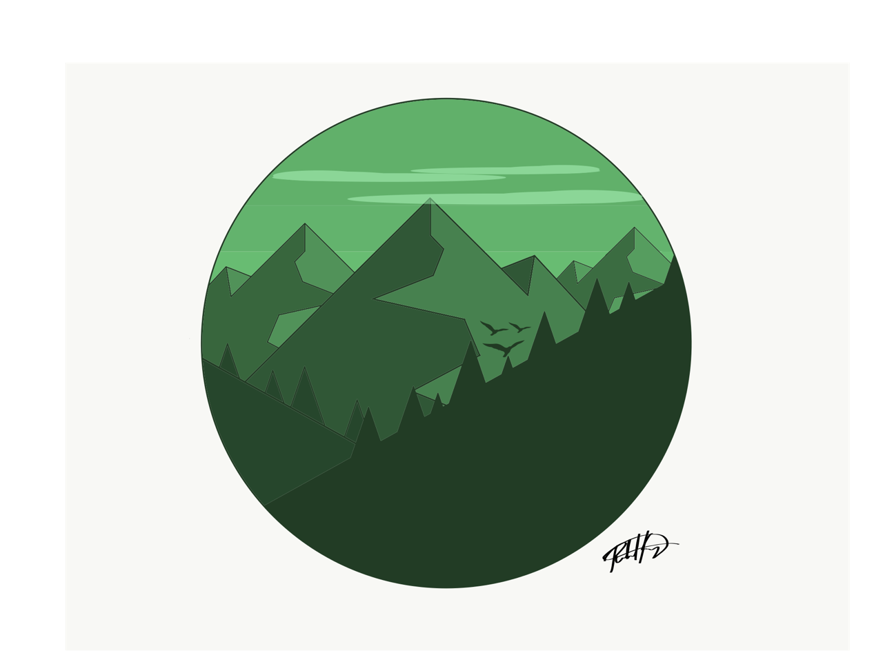 Moutain vector flat. Landscape instagram tumblr richkenneyart