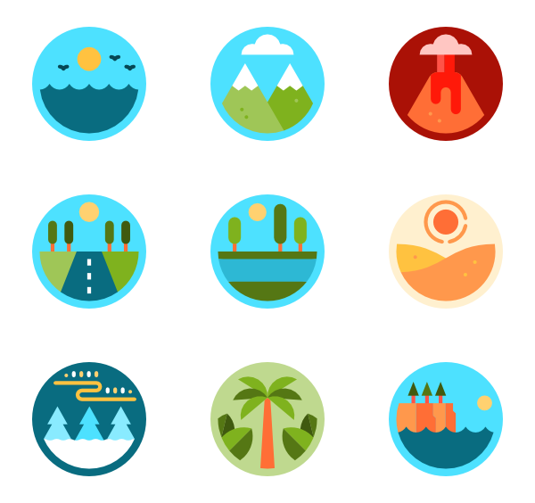 Ai vector mountain. Icons free landscapes