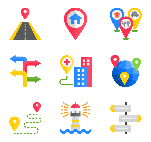 Svg markers geo. Marker icons free vector