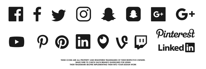 Ai vector social media. Free icons svg pack