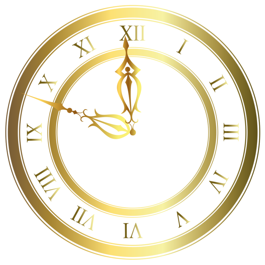 Vector 9 clock. Gold by lyotta this