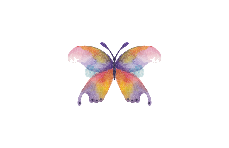 Ai vector watercolor butterfly. Painting drawing transprent