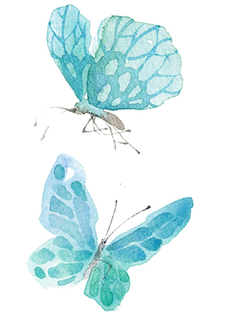 Ai vector watercolor butterfly. Painting drawing illustration blue