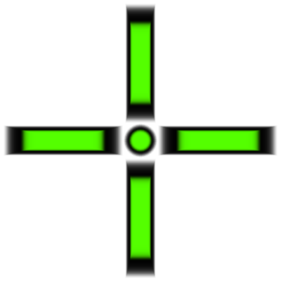 green crosshair png