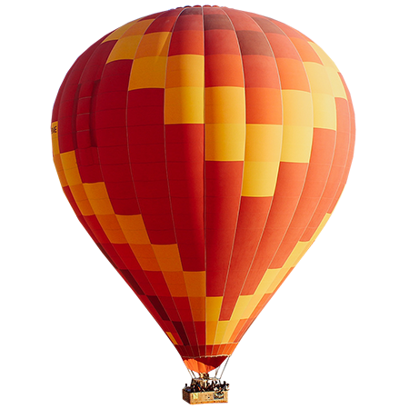 Air balloons png. A bold red yellow