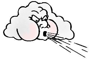 Cartoon Puff Of Air Clipart