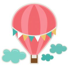 Hot balloon . Air clipart cute clip black and white stock