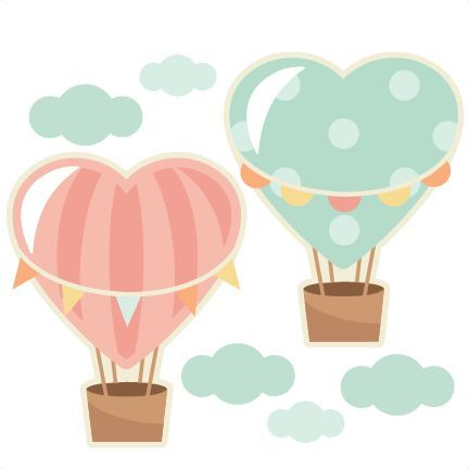 Heart hot balloons scrapbook. Air clipart cute free download