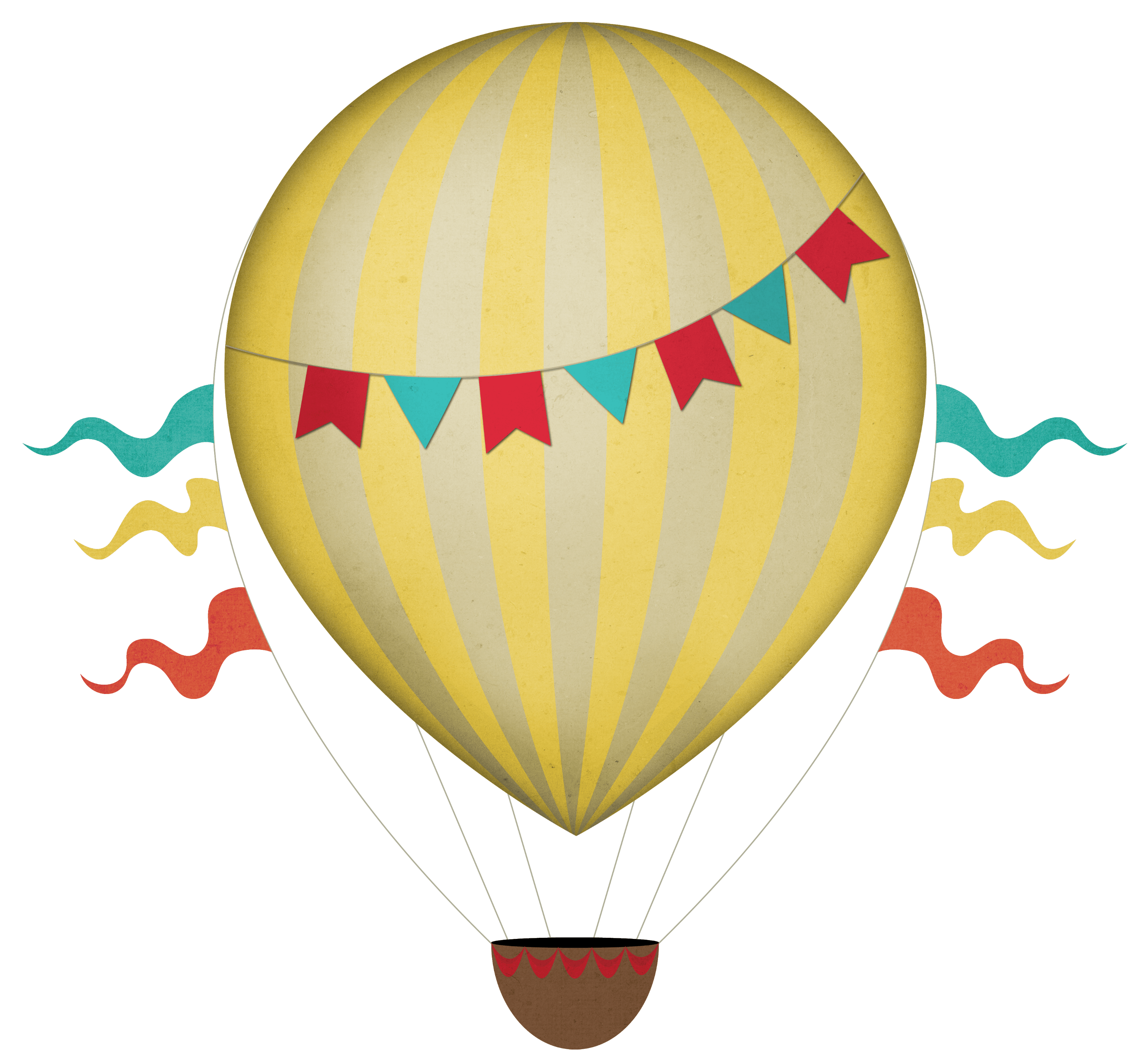 Hot balloon transparent png. Air clipart vintage graphic library download