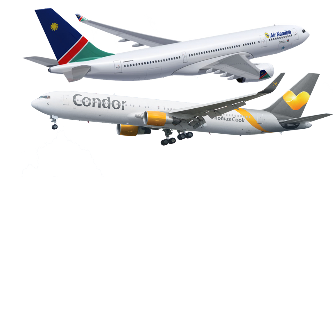 Air png image. Fly to namibia carrying
