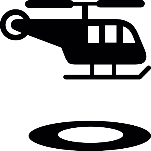 Air strip icon png. Helicopter and circular landing