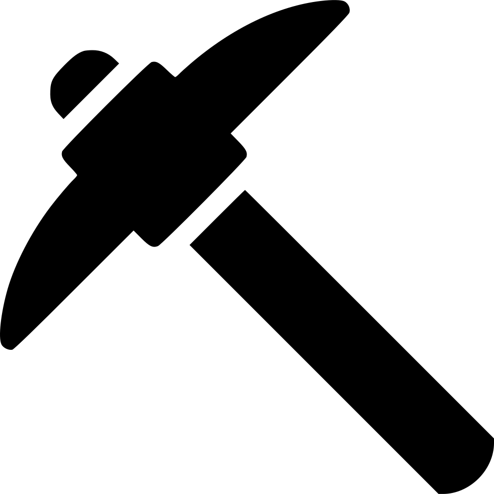 Pickaxe transparent miner. Free mining icon download