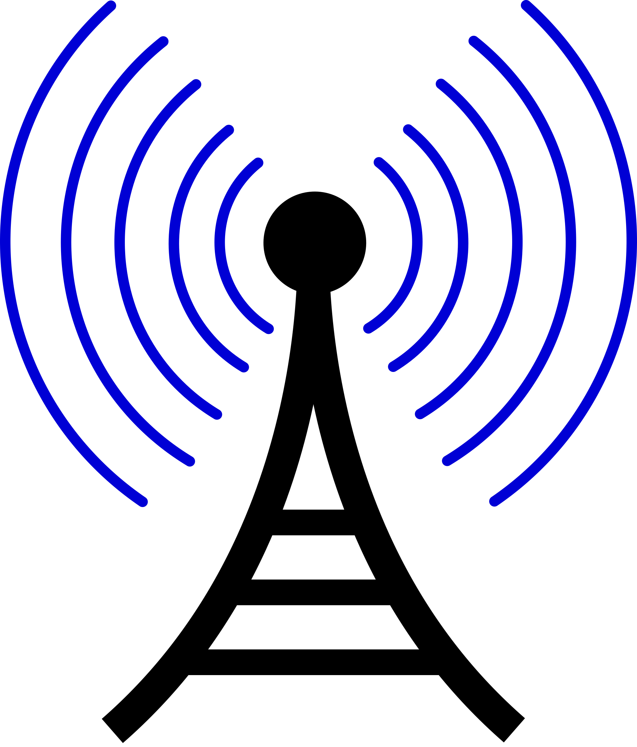 Air waves png. Clipart radio wireless tower