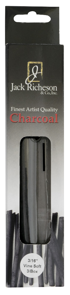 Airbrush drawing charcoal. Richeson natural vine pack