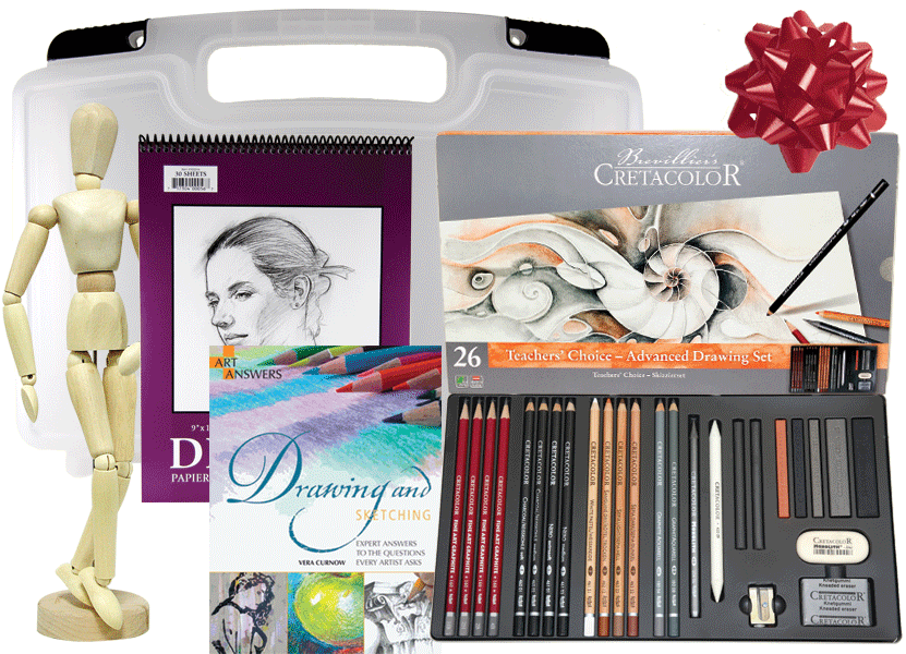 Airbrush drawing charcoal. Pencil gift sets from