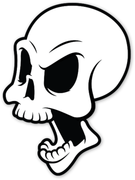 Airbrush drawing cool. Die epic skull sticker