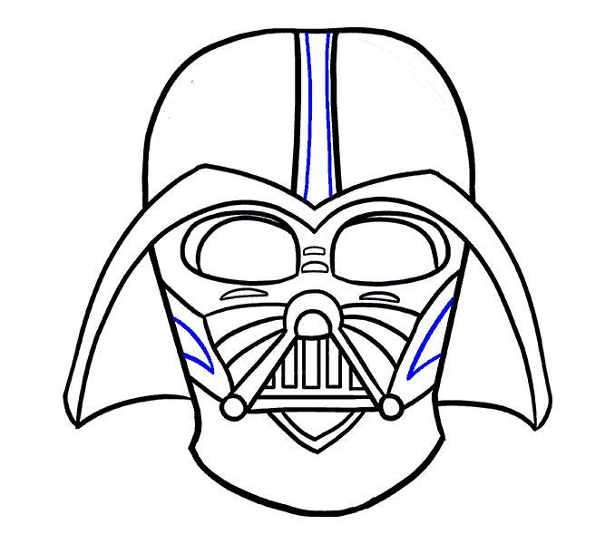 Airbrush drawing darth vader. For kids at getdrawings
