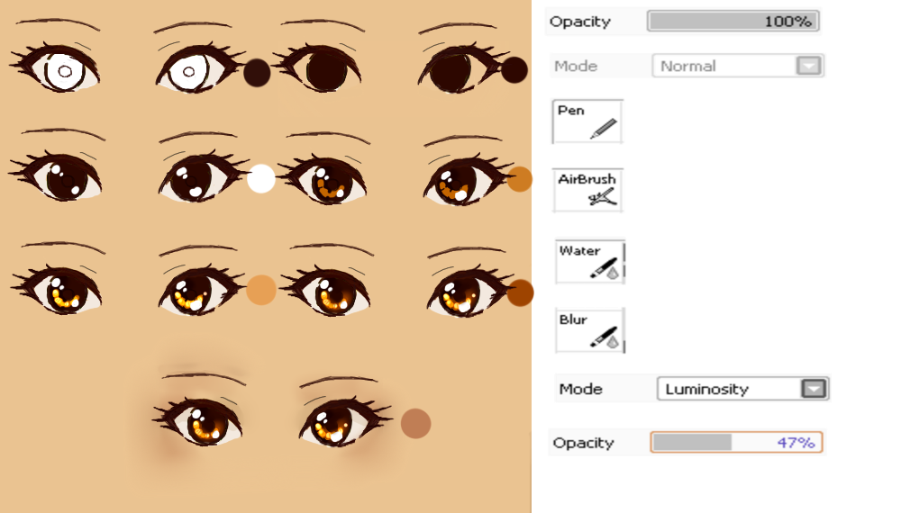 Drawing creativity eye. Manga tutorial by xmajutsu