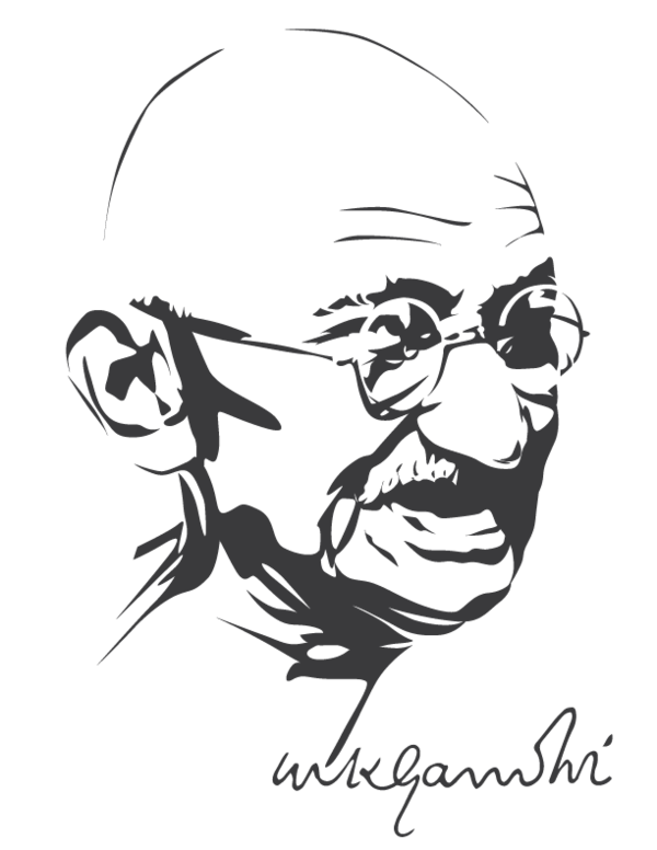 Airbrush drawing mind blowing. Mahatma gandhi by astayoga