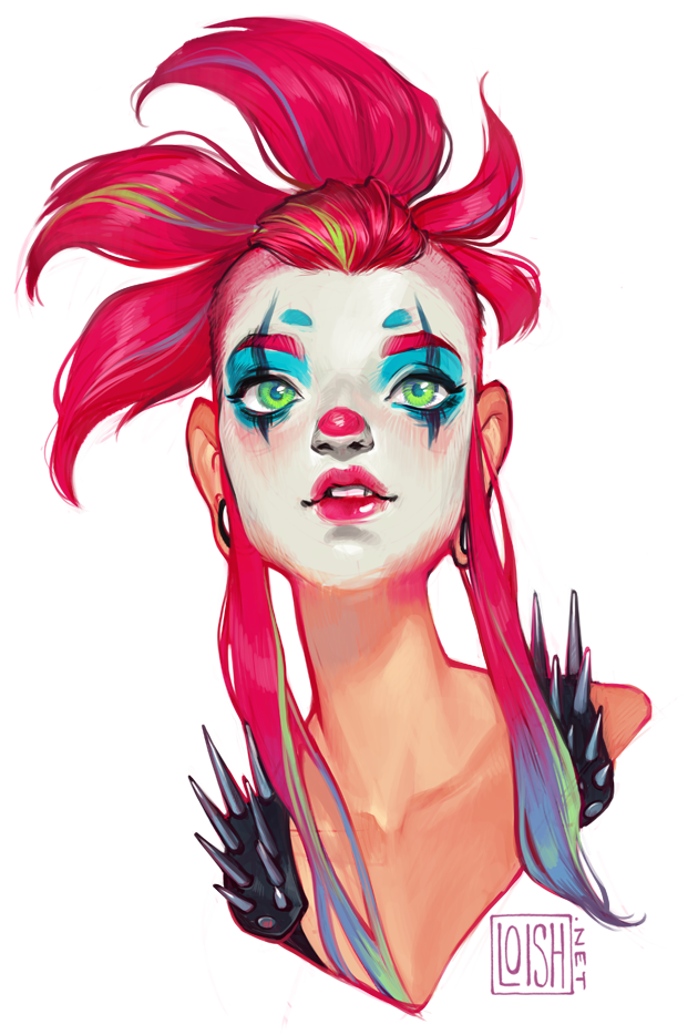 Portraits drawing makeup. Whimsy by loish digital