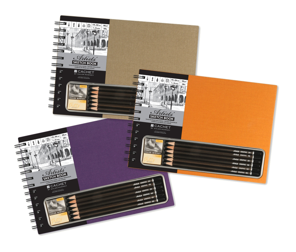 Sepia drawing pencil. Gift sets from rex