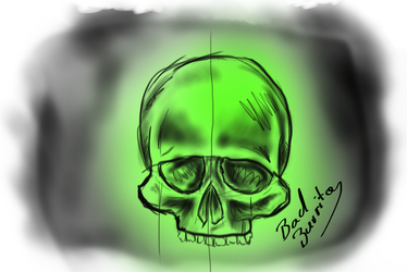 Airbrush drawing skull. Sin er explore on