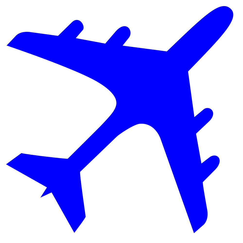 Aircraft vector airline. File airplane silhouette blue