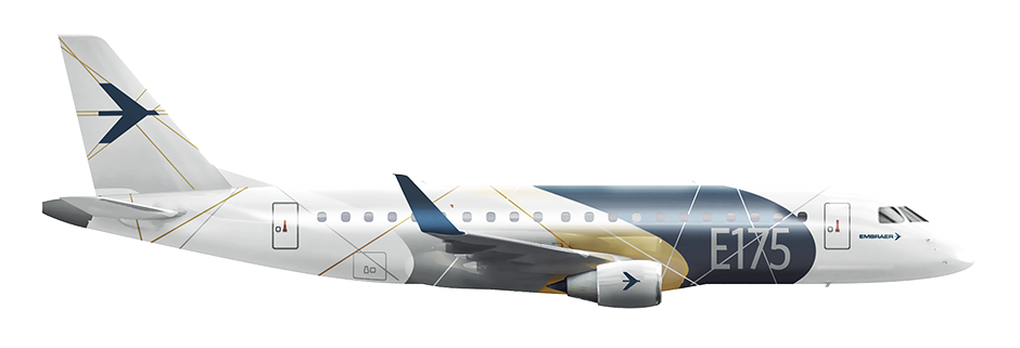 E embraer. Vector jet side picture download
