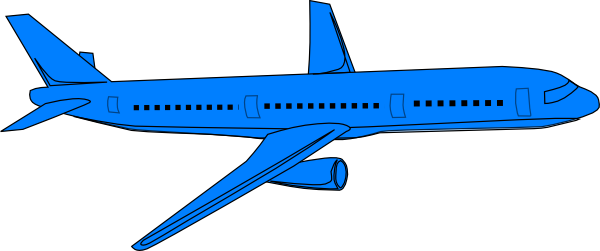 Aircraft vector blue airplane. Pass clip art at
