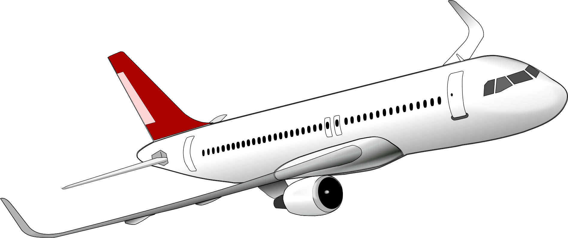 Aircraft vector clip art. Airplane picture black